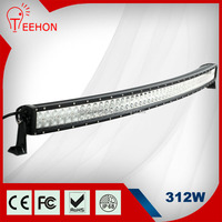 wholesale price 55 inch 312w curved crees 4x4 led light bar for 4x4 offroad ATV truck boat