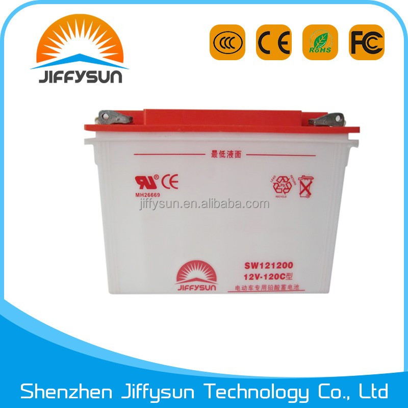 6-DG-140 12V 140Ah electric tricycle traction battery from big factory