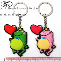 Personalized cool 3D plastic soft pvc and rubber silicone keychain, two sided 3D silicone key rings,double sided key pvc chain