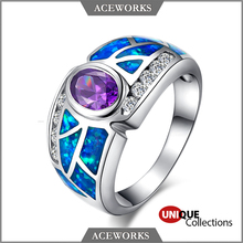 RN2402 Aceworks New 925 Sterling Silver Jewelry Wholesale Ring with Opal Stone