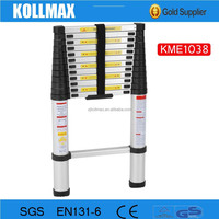 12.5'Ft Aluminum Domistic Telescopic Ladder with SGS 2015 EN131-6