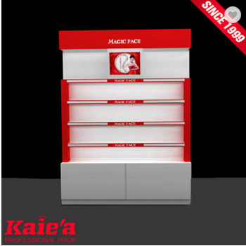 Free design cosmetic display case counter fro retail store