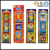 Cute popular cartoon Bible Heroes Trivia Old Maid Memory Match Crazy Eights playing card games 36 flash cards in 3 deck in blist