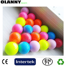 durable driving range good quality colorful blank golf ball