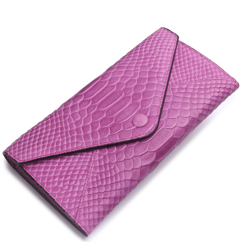 New Style Croc Embossed Coin Purse Genuine Leather Wallet for Women