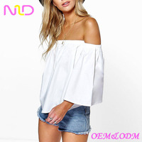 Women's ladies cotton top off shoulder top women off the shoulde latest top designs for women