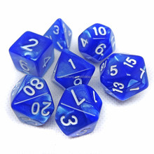 NEW Sets Opaque Polyhedral Dice - Blue White Black Green Red - RPG D&D