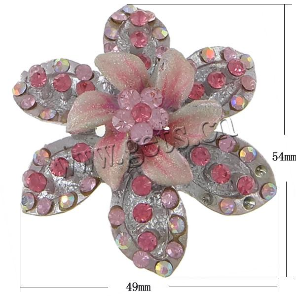Zinc Alloy Flower Antique Large Rhinestone Brooch 719261
