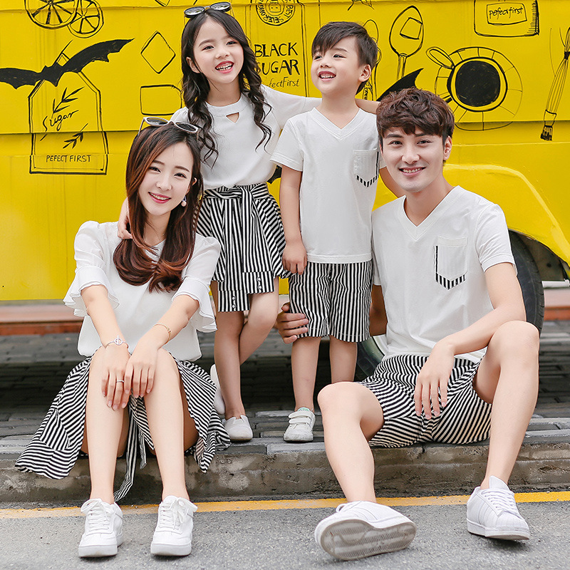 X62196A casual korean style new matching mother daughter outfits