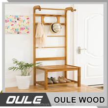 China Manufacturer Made Wall Mounted Wood Coat Rack For Home Decorative
