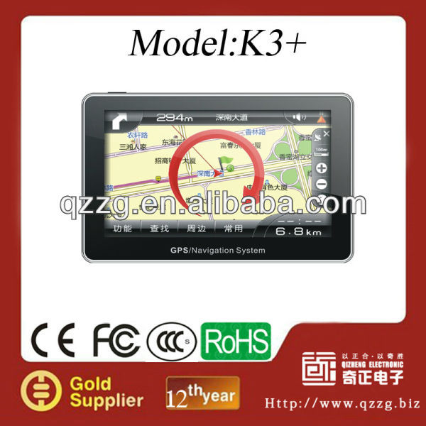 7 Inch Touchscreen Sat Nav GPS, GPS Win CE 6.0 with FM Transmitter, Bluetooth, AV-IN function