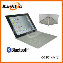 Ultra-thin PU leather material mini pad case with blue tooth keyboard for ipad 2 3 4