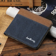 Baellerry factory wholesale low price Korean Canvas Purse men short wallet custom