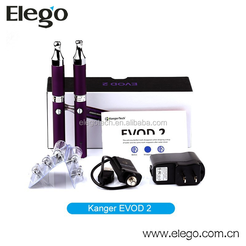 2015 Best Seller Authentic Kanger EVOD 2 Starter Kit with 650mAh Battery and EVOD-2 Tank Wholesale