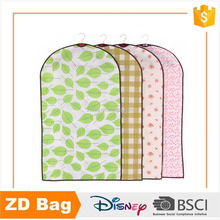 Eco- friendly promotional full printed plaid zipper closure suit cover bag