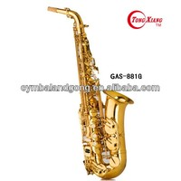 Musical instruments High Eb Key Golden Lacquer Alto Saxophone FROM TONGXIANG
