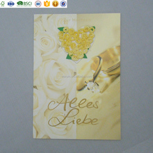 Custom Design And Logo Handmade Paper 3D Quilling Birthday Greeting Cards