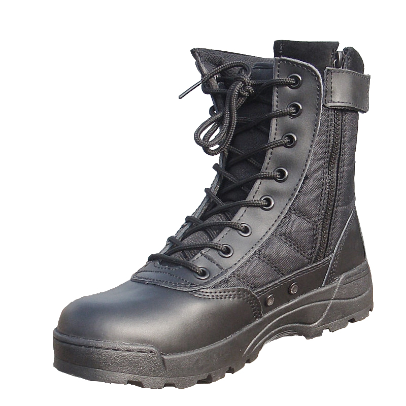 army marching duty full grain leather and waterproof nylon assault military boots