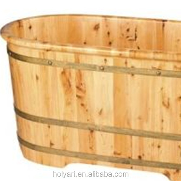 Hot sale high quality custom made hinoki wood bathtub