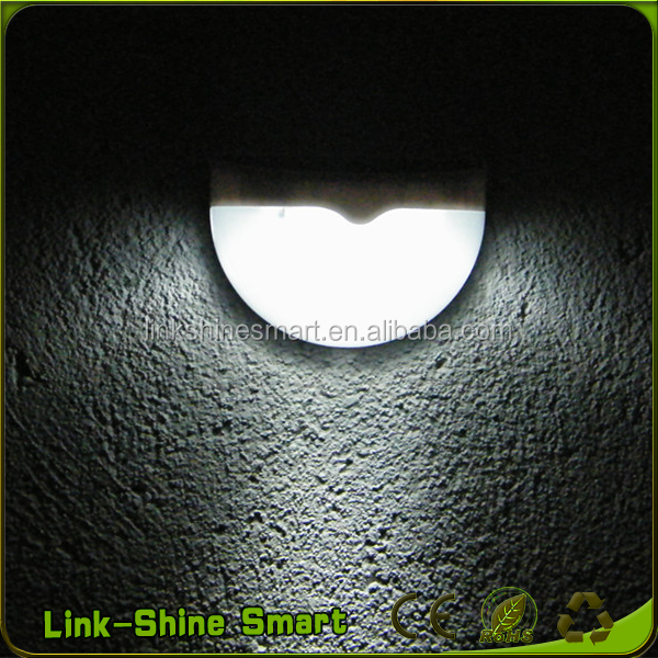New 0.42w outdoor wall mounted solar power led garden lights