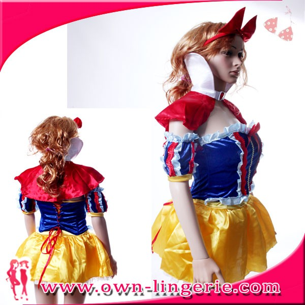 Adult Snow White Dress best quality Snow White Dress Ladies Fancy Dress Fairytale Princess Womens Adult Costume