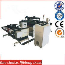 TJ-97 2017 new products automatic roll forming hot foil stamping embossing machine for fabric textile