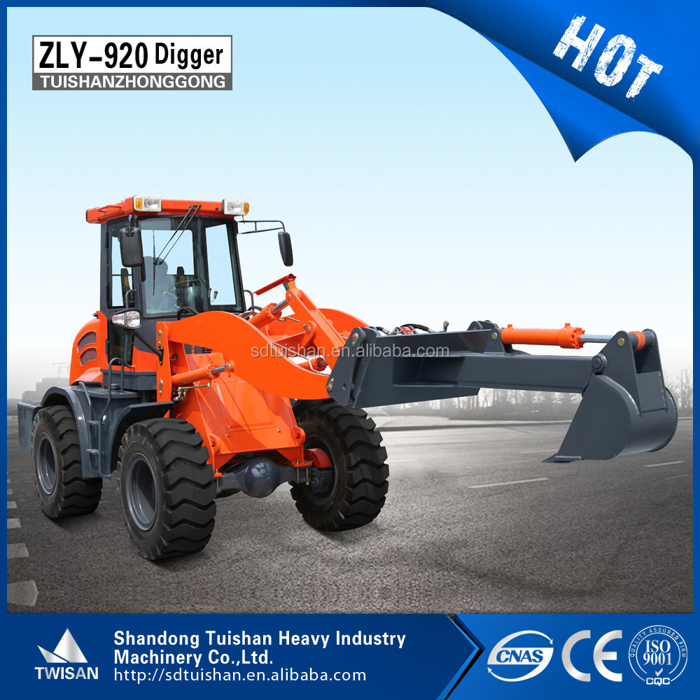ZLY920 mini tractors with front end loader with snow blower