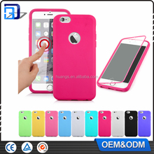 Mobile Phone Accessories Transparent Front PC + Back TPU Flip Cover For iPhone 6 Clear View Touch Case Handy Tasche
