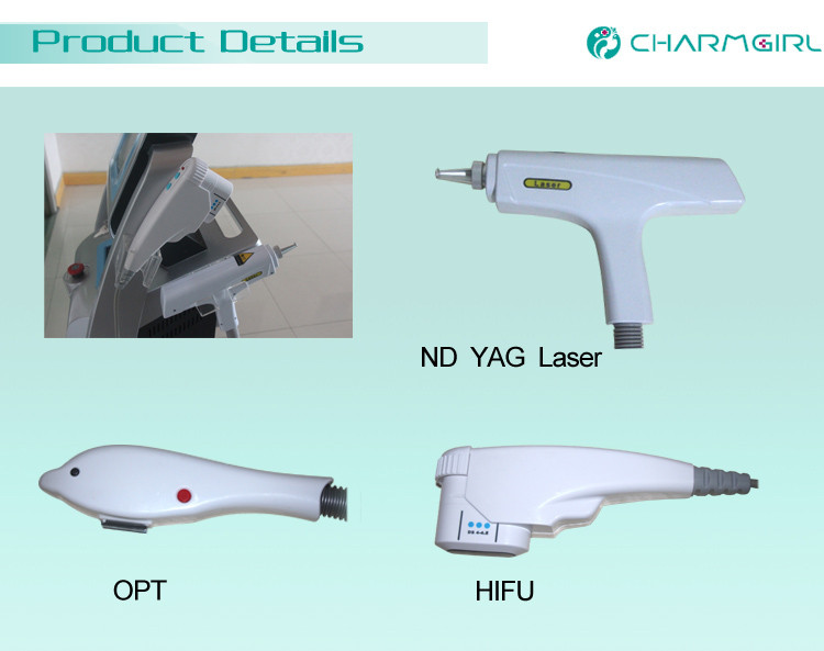 2017 Multi Functional Beauty Equipment 3 in 1 Laser ND Yag SHR Hair Removal Machine