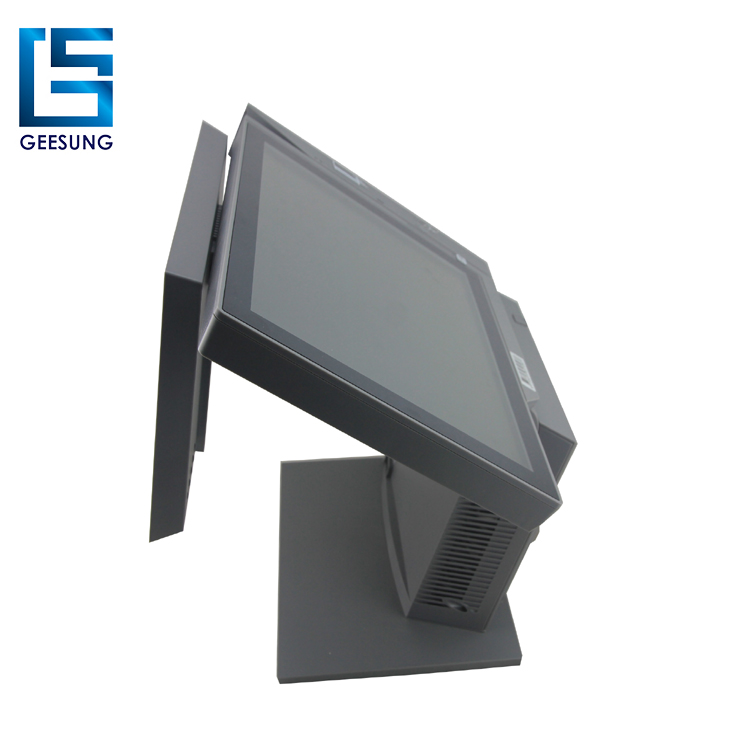 All function in one pos system with printer card reader customer display