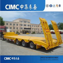 CIMC 3 Axle 60 Ton Lowbed Tractor Trailer For Sale