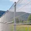 Cheap Factory Decorative wire fence powder coated 3D panels floding wire mesh fencing