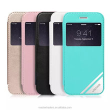 New Arrival USAMS VIVA Series Wallet Leather Case With Transparent Cover for Iphone 6 Plus MT-2486