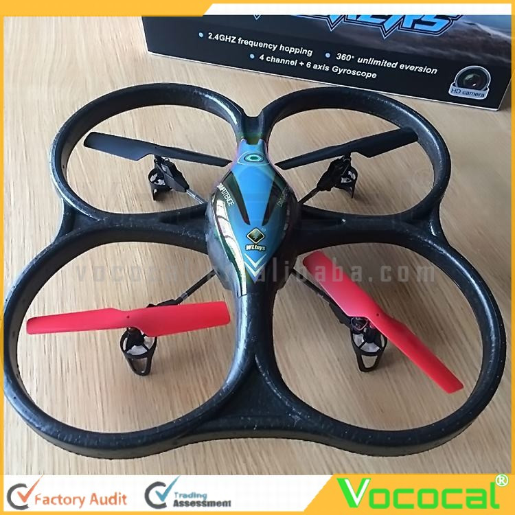 V606 Remote Control RC Quadcopter Helicopter 4 Channel 6 Axis Gyro Aircraft Airplane Plane Model Toys Black + Blue