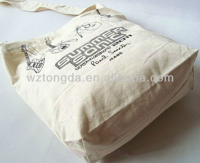 eco friendly reuseable cotton canvas tote shopping bag