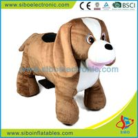 GM5915 china supplier outdoor dog statue coin game machine walking animal rides