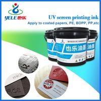 Wear-resistant UV ink screen printing