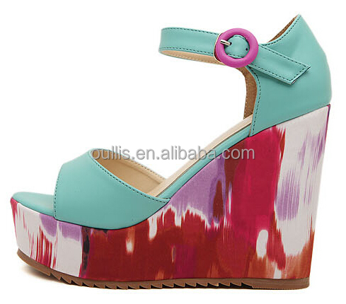 women wedges shoes 2014 <strong>sandals</strong> newest design PH2917