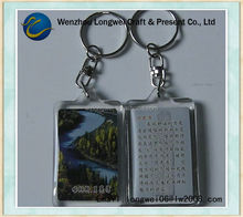 custom acrylic free photo key chain ring/ bungee cord key chain