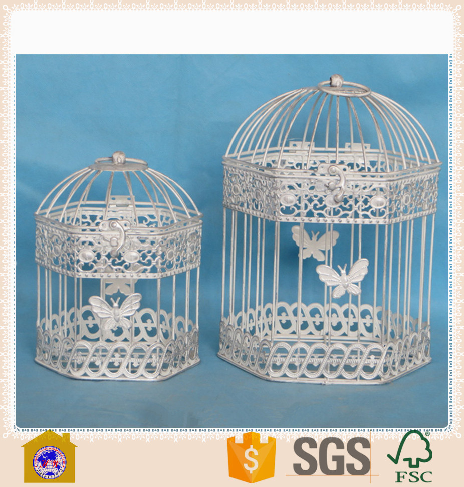 Cheap antique large garden decor metal bird cage for sale for Inexpensive garden decor