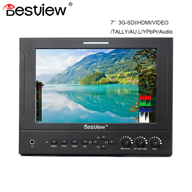 Bestview 7 Inch IPS Screen Camera Field Monitor 3G-SDI/HDMI/VIDEO/TALLY/AU.L/YPbPr/Audio Input for DSLR Camera Camcorder