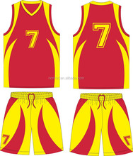 Red Dry Fit Dye Sublimation Sports Uniforms best basketball jerseys design