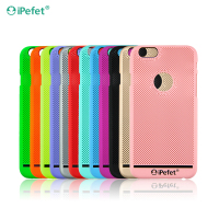 Colorful Plastic Hard shell mobile phone back cover Breathable case phone