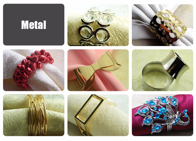 new product banquet use custom napkin ring wedding