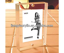 acrylic 8x10 magnetic photo frame acrylic block photo frame sign holder