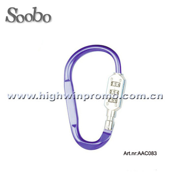Hot slling aluminum carabiner with coded lock
