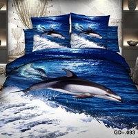 Beautiful dolphin playing in the sea bed linen 3D
