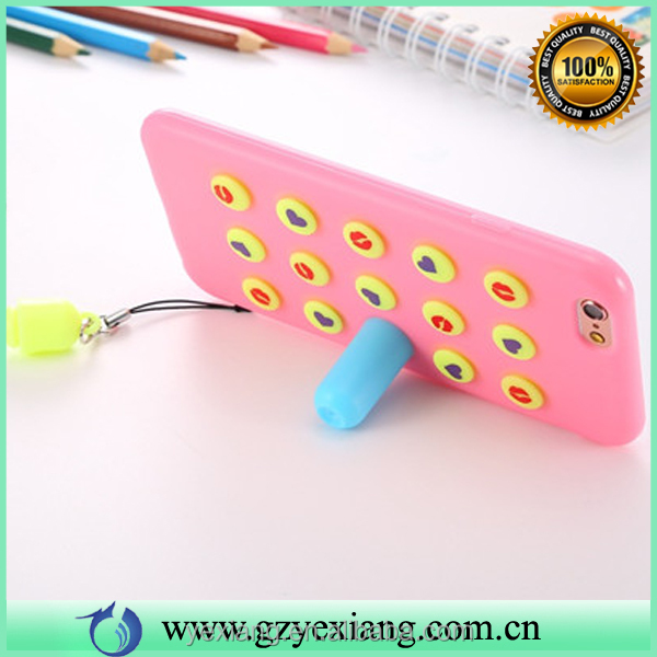 Wholesale popular Korea style cute silicone cover case with stand for iphone 5 waterproof silicone case cover