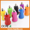 colorful car usb charger mobile phone charger with customized logo