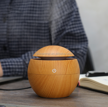 New Item 130ml Portable Ultrasonic wood aroma Electronic Essential Oil Diffuser
